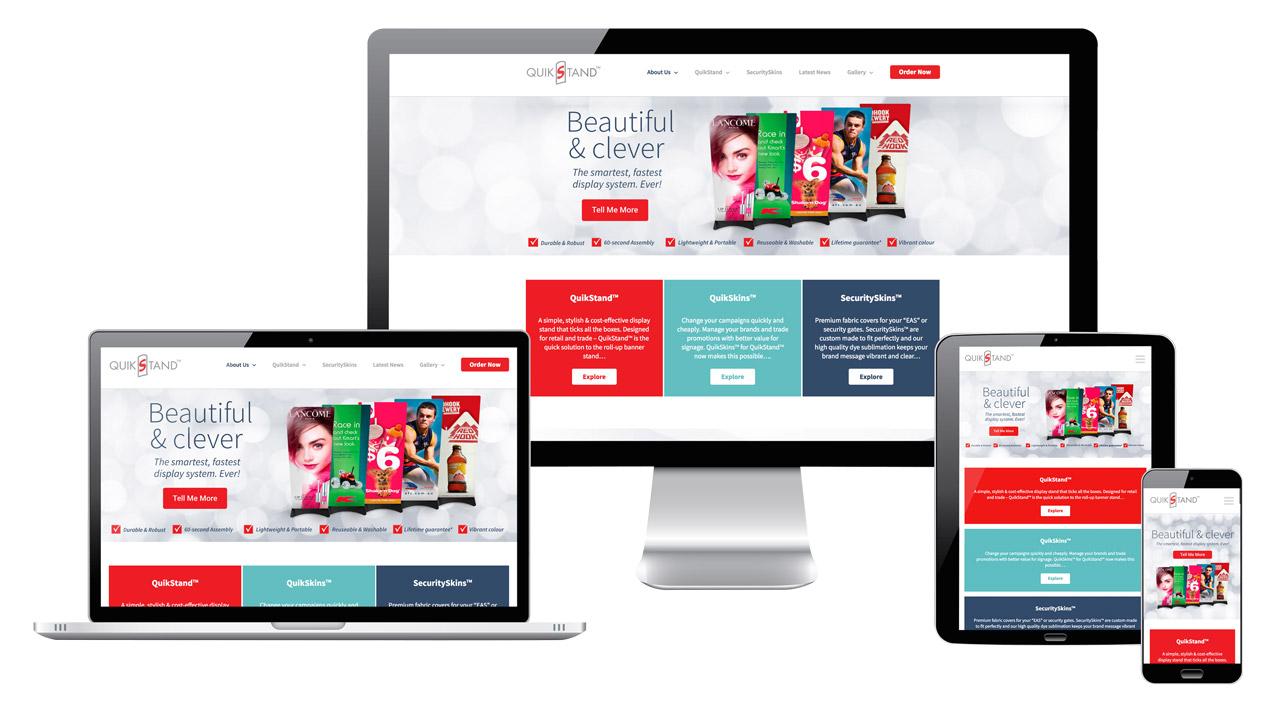 Quikstand Responsive Website