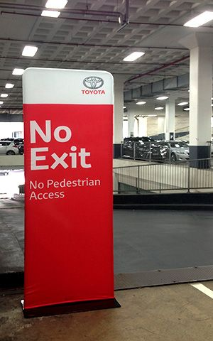 Toyota Directional Signage QuikSkin